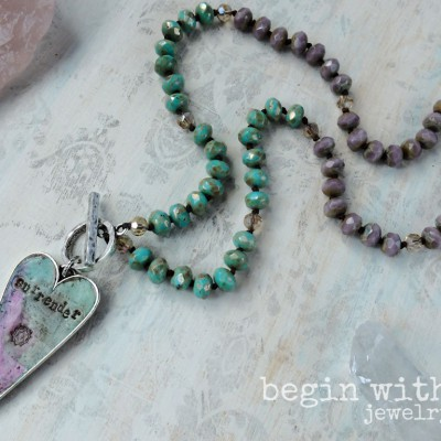 "One of a Kind ""Surrender"" Heart Chakra Necklace (SOLD)"
